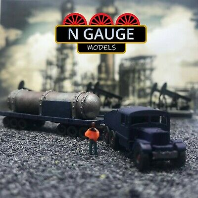 £14.99 • Buy Classic Heavy Haulage Lorry & Trailer N Gauge Scale 1:148 (Ready To Go!) Truck