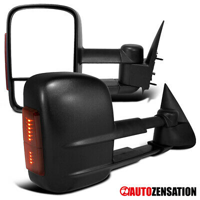 $78.99 • Buy Pair 03-07 Silverado Sierra Power Towing Side Mirrors+LED Signal Lights