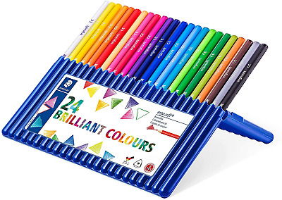 Staedtler Ergosoft Colored Pencils, Set Of 24 Colors In Stand-up Easel Case • 20.94£