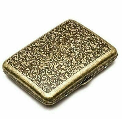 Retro Cigarette Case Tobacco Rolling Machine Box Storage Container Holder Bronze • 6.99£
