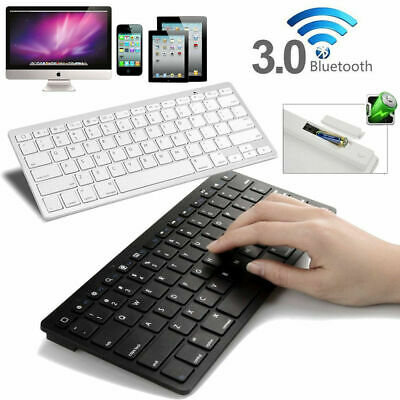 £15.99 • Buy For IPad 1/2/3/4/ AIR IPhone 5/4 ITouch IMac Mini Wireless Bluetooth Keyboard