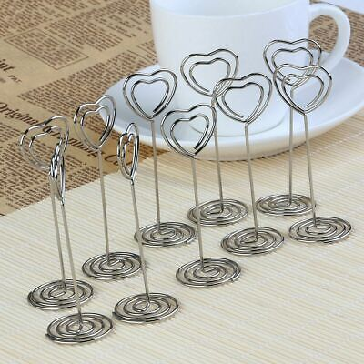 £5.70 • Buy 2-20PCS Heart Photo Clip Table Number Card Memo Note Holder Wedding Party Decor