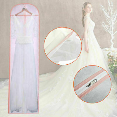 £6.59 • Buy Breathable Long Dress Cover Storage Bag For Bridesmaid Bridal Wedding Gown Dress