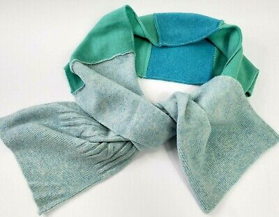 £16.99 • Buy # 100% Pure Cashmere Shawl Scarf Wrap Recycled Handmade Blue 600
