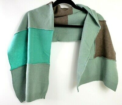 £16.99 • Buy # 100% Pure Cashmere Shawl Scarf Wrap Recycled Handmade Blue Beige 601
