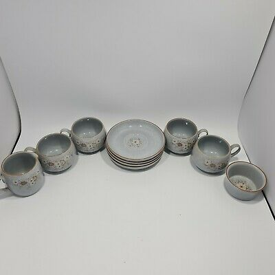 £30 • Buy Denby 'Reflections' Cups, Saucers, Milk Jug And Soufflé Dish.