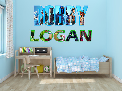 £5.99 • Buy Personalised Name Wall Art Sticker Boys & Girls Decals Bedroom Decor Stickers