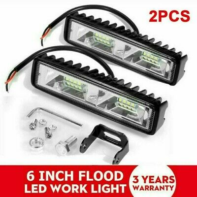 AU15.98 • Buy Pair 6inch Cree LED Work Light Bar Flood Beam Lamp Reverse DRL Offroad SUV