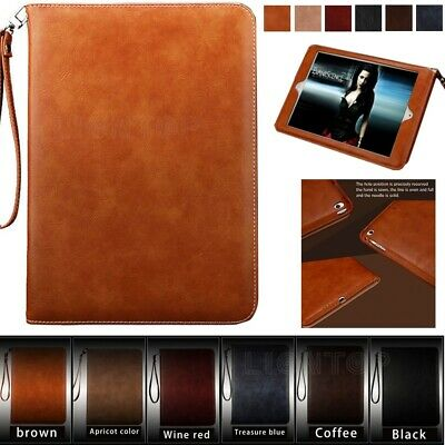 AU22.89 • Buy Smart Leather Case Cover With Strap For Apple IPad Air 1/2 5th 6th 7th 8th Gen