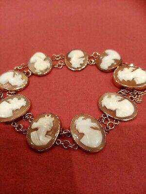 Cameo Bracelet, Various Damage To Cameos As Reflected In Price • 135£