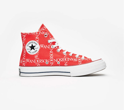 $ CDN110.74 • Buy Converse X JW Anderson Chuck Taylor Chuck 70s High Red Canvas Lace Up Trainers