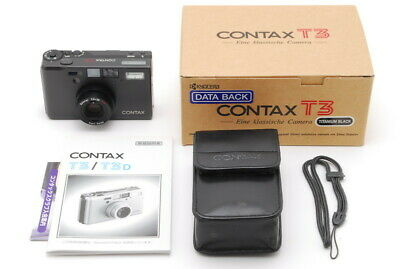 $ CDN2631.71 • Buy 【MINT In Box】 Contax T3 Titanium Black 35mm Film Camera Ship DHL From JAPAN E04