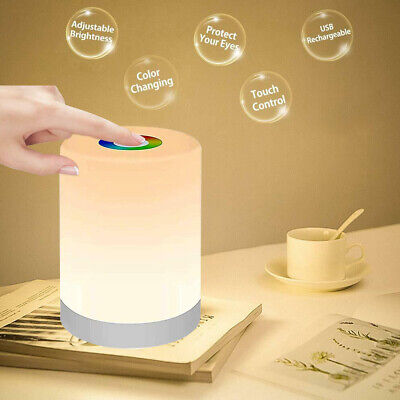 AU21.69 • Buy Touch LED Night Light Bedside Desk Table Lamp Table USB Dimmable Rechargeable