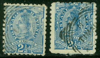 AU10 • Buy New Zealand. 1893. SSF. 2½d. P10. 2 Copies U.