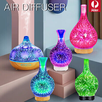 AU27.99 • Buy 7 Colors Aromatherapy Diffuser 3D Aroma Essential Oils Ultrasonic Air Humidifier