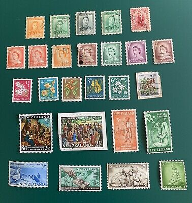AU1.25 • Buy New Zealand Mixed Pre-decimal Stamps X 26