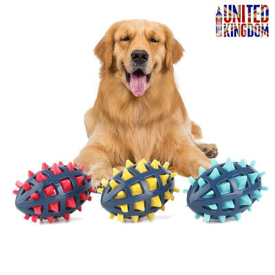 £5.99 • Buy UK Floating Dog Toy Atomic Rubber Rugby Ball With Huge Squeak & Varied Bounce