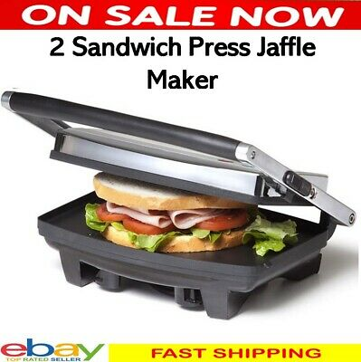 AU29.99 • Buy 2 Slice Sandwich Maker Anko Stainless Steel Cafe Flat Grill Plate Electric Press
