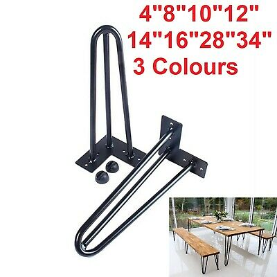Hairpin Legs Set Of 4 Legs - 4 To 34 Inch Table Legs 3 Colours Fast Delivery UK • 13.99£