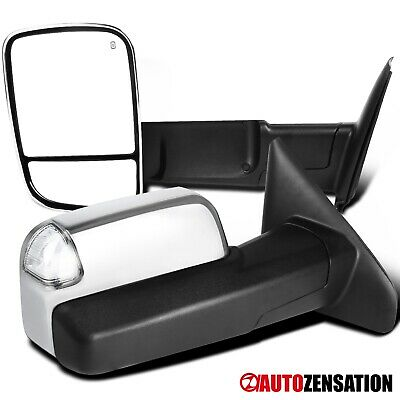 $116.99 • Buy For 2002-2008 Dodge Ram Chrome Power Heat Towing Mirrors+LED Signal+Puddle Lamp