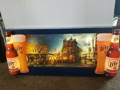 $829.99 • Buy 1996 Miller Lite  Beer Coast To Coast Motion Moving Flashing Light Up Sign