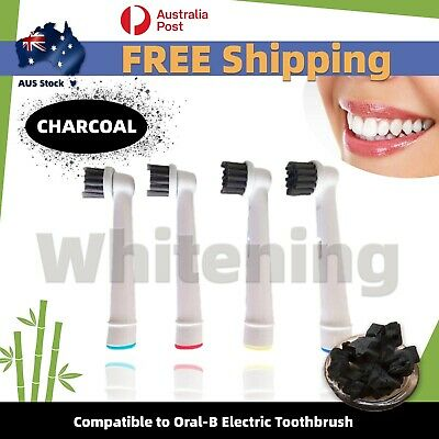 AU5.75 • Buy 4pc Bio-Charcoal Compatible Oral B Electric Whitening Toothbrush Head Refill