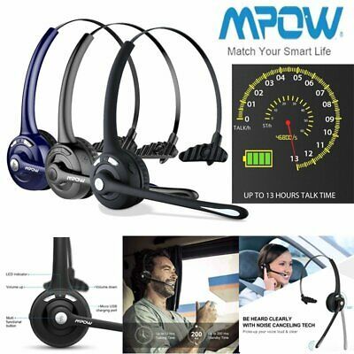 £21.68 • Buy MPOW Wireless Bluetooth Headphone Trucker Driver Calling Center Headset W/ Mic