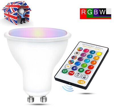 £4.79 • Buy LED Bulbs Light RGB 16Colour Changing Spotlight Lamp With Remote Control GU10 5W