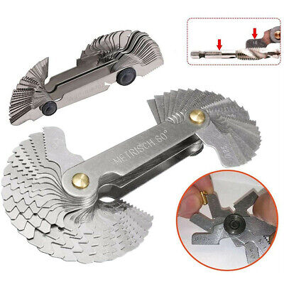 £5.98 • Buy Stainless Steel Blades Screw Thread Pitch Cutting Tool For Checking Angle Lathes