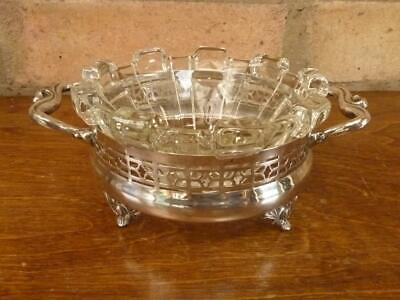 £19.99 • Buy Nice Vintage Apollo Silver Co Silver Plated And  Glass Preserve Butter Dish