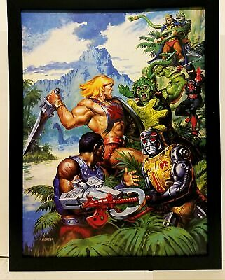$34.95 • Buy He-Man & Masters Of The Universe By Earl Norem 9x12 FRAMED Art Print Poster