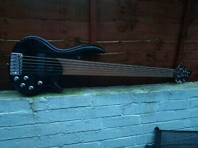 AU539.25 • Buy 6 String Fretless Bass Guitar Metallic Black Sparkle Finish