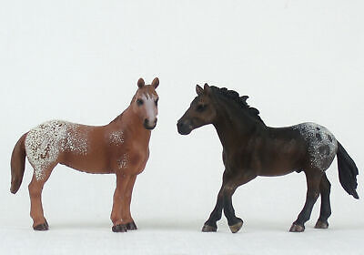 SCHLEICH Horse Model APPALOOSA MARE + STALLION 13731 13732 Retired • 21.20£