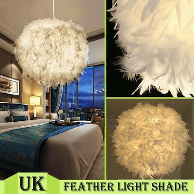 £16.95 • Buy Large Feather Ceiling Pendant Light Shade Morden Bedroom Nordic Style Lampshade⭐