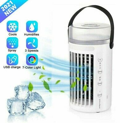 AU36.59 • Buy Portable Mini AC Air Conditioner Personal Unit Cooling Fan Humidifier Purifier