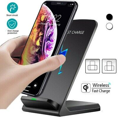 AU12.65 • Buy Qi Wireless Fast Charger Charging Pad Stand Dock Samsung Galaxy S9+ IPhone XS 8