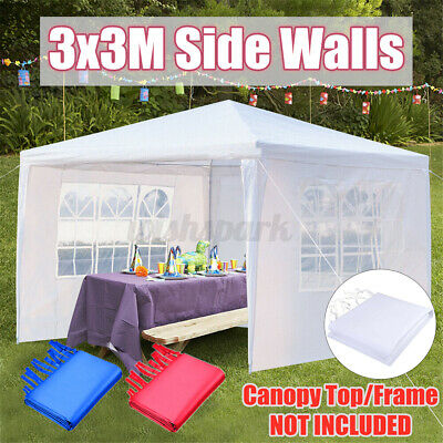 3x3m Outdoor Gazebo Wedding Marquee Party Event Tent Canopy Camping 3 Side Walls • 36.04£
