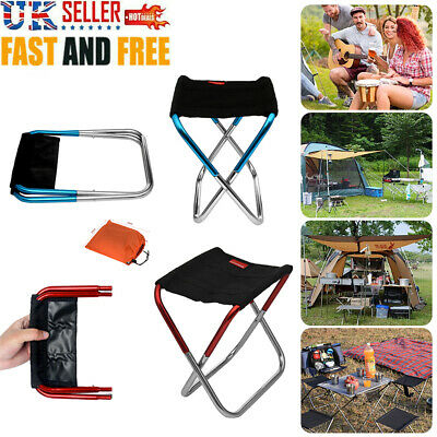 £7.99 • Buy Portable Aluminum Folding Chair Stool Seat For Outdoor Fishing Camping Picnic UK