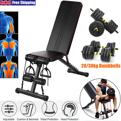 £49.99 • Buy Adjustable Weight Bench Dumbbells Sit Up Incline Chest Training Fitness Exercise
