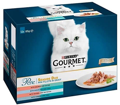 £16.92 • Buy Gourmet Perle Seaside Duo Adult Cat Food Pouches, 12 X 85g