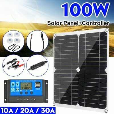 £37.34 • Buy  100 Watt Solar Panel With Solar Charge Controller 12V Waterproof Battery Charge