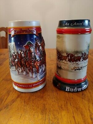 $ CDN12.44 • Buy Anheuser Busch Budweiser Beer Steins Lot Of 2; 1990 &1999