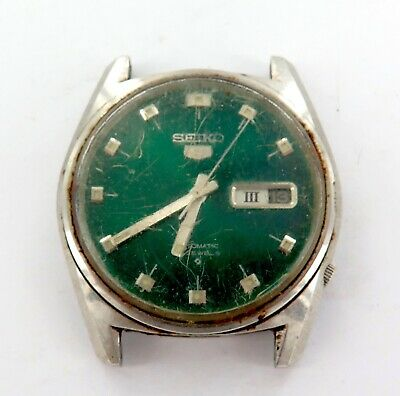 $ CDN11.12 • Buy Vintage Seiko 5 21j Auto Day Date 6119-8095 Emerald Green Dial Mens Watch.
