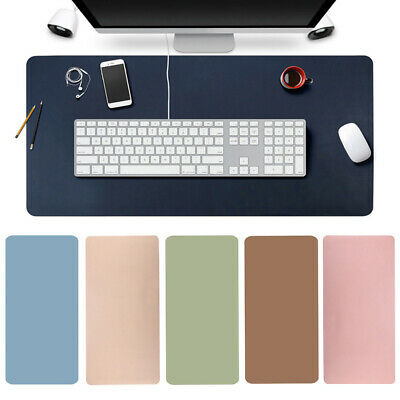 AU21.65 • Buy Large Leather Computer Desk Mat Keyboard Mouse Pad Laptop Cushion Home Office AU