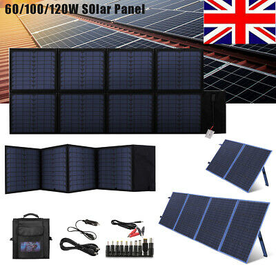 £149.99 • Buy 60w 100w 120w 200W Foldable Solar Panel Kit For Camping/RV/Phone/Solar Generator