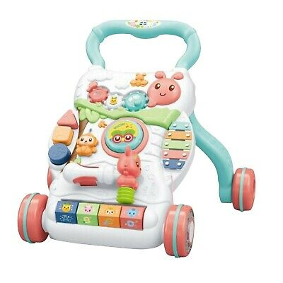 £24.60 • Buy Baby Walker First Steps Push Along Bouncer Activity Music Ride On Car Melody Toy