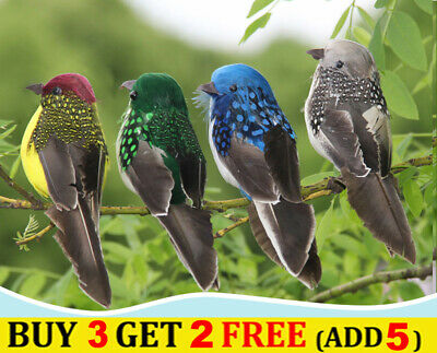 £3.49 • Buy Realistic Imitation Animal Fake Sparrow Ornament Birds Garden Lawn Tree Decor