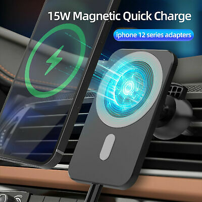 AU21.99 • Buy 15W Fast Car Mount Holder Wireless Charger Mag Safe For IPhone 12 Pro MAX MINI