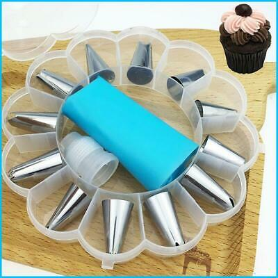 £9.20 • Buy 14Pcs Cake Decorating Tools Pipe Icing Nozzles Baking Supplies Stainless Steel