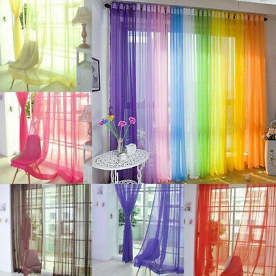 £3.29 • Buy Pair (2 Panels) Of Rainbow Voile Slot Top Panels Top  Quality Net Voile Curtains